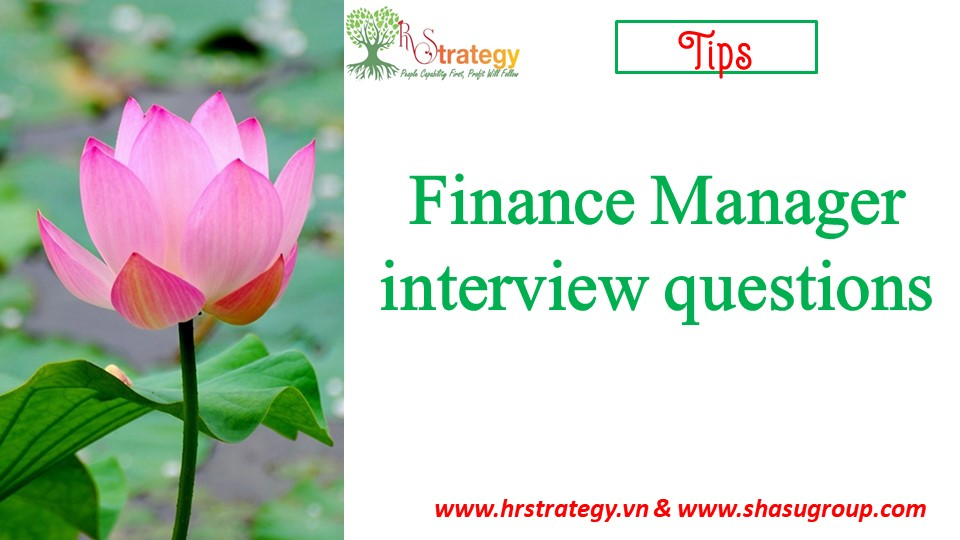 Finance Manager interview questions