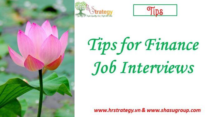 Tips for Finance Job Interviews