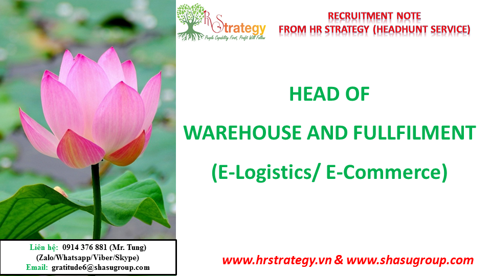 Head of Warehouse and Fullfilment